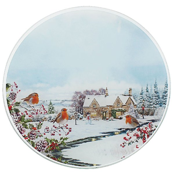 ROBINS CANDLE PLATE 20CM