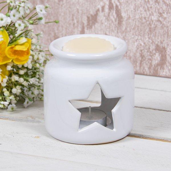 WAX/OIL WARMER STAR WHITE