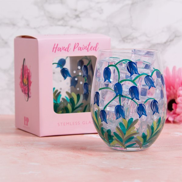 BLUEBELLS STEMLESS GLASS