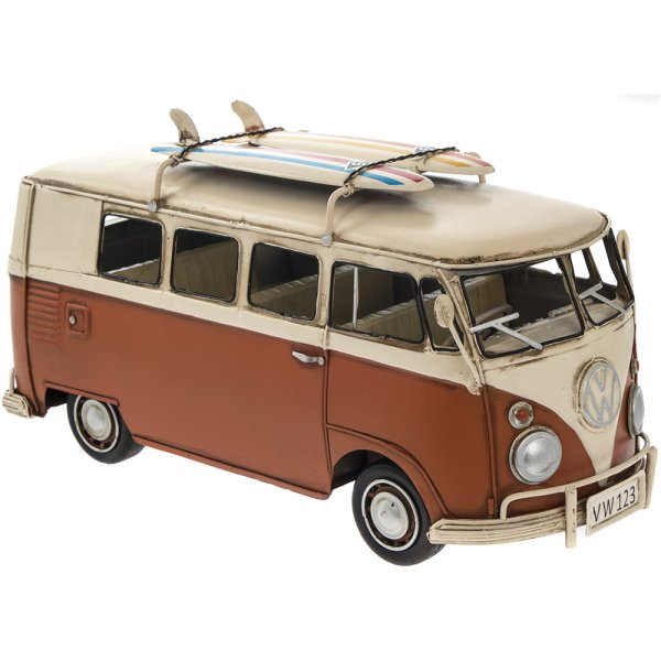 VINTAGE VW CAMPER VAN ORANGE