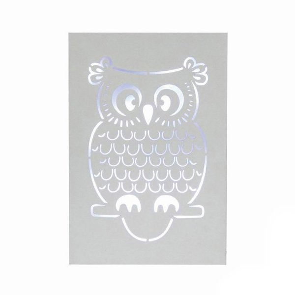 OWL LED WALL PLAQUE
