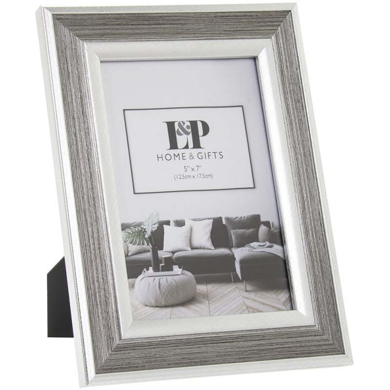 SILVER DUO PHOTO FRAME 5X7