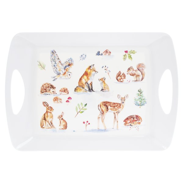WINTER FOREST TRAY LRG