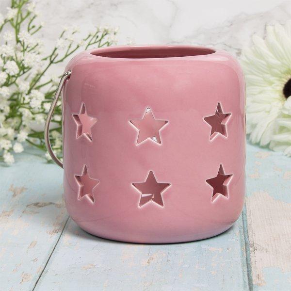 STARS LANTERN PINK 12CM