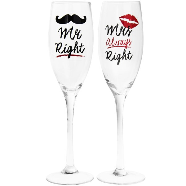 MR & MRS RIGHT FLUTES