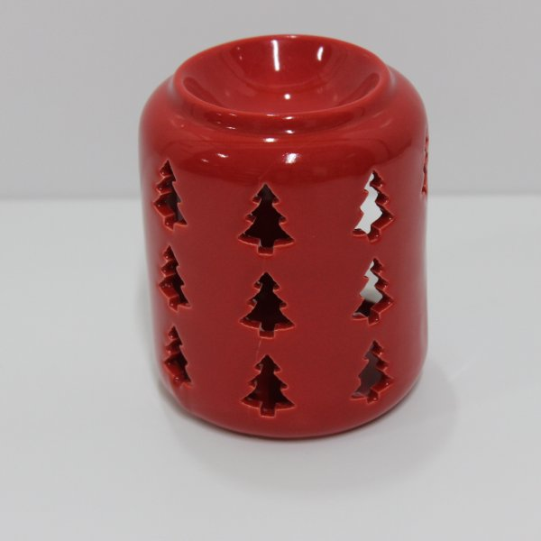 XMAS TREE RED WAX WARMER 10CM