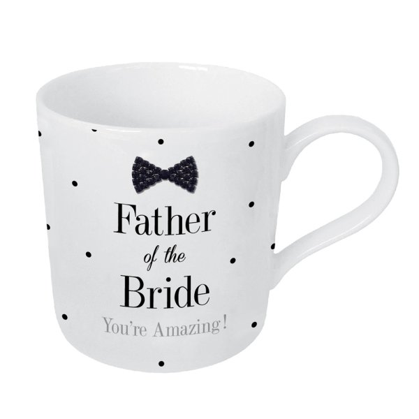 MAD DOTS BLKTIE FATHERBRIDEMUG