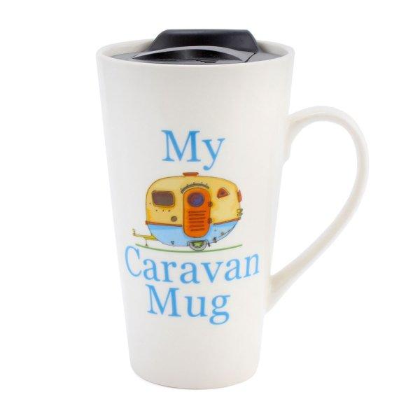 MY CARAVAN TRAVEL MUG BLUE