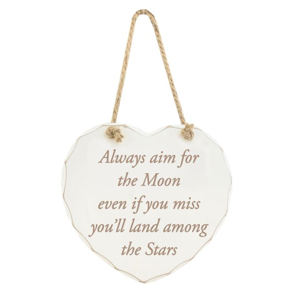 AIM FOR THE MOON PLAQUE