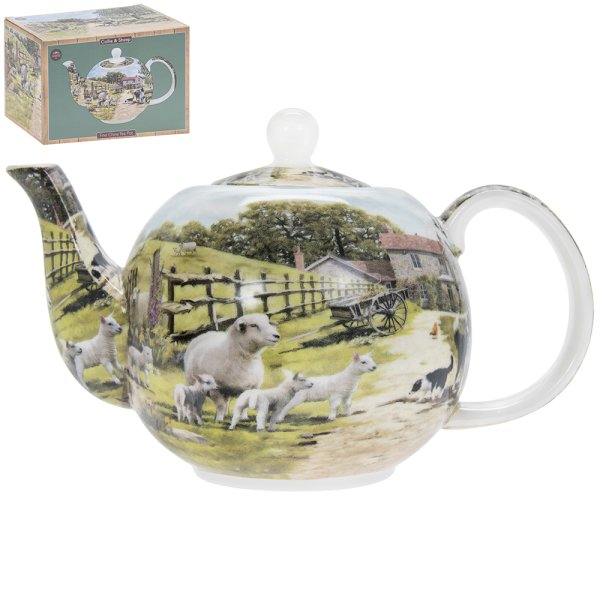 COLLIE & SHEEP TEA POT