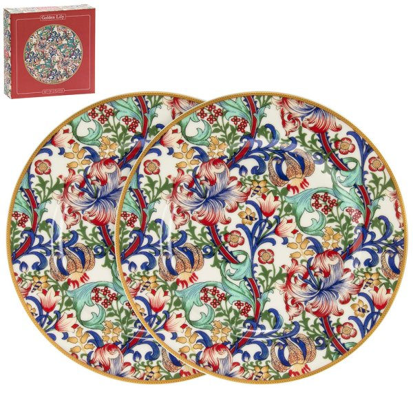 GOLDEN LILY PLATES 2 SET