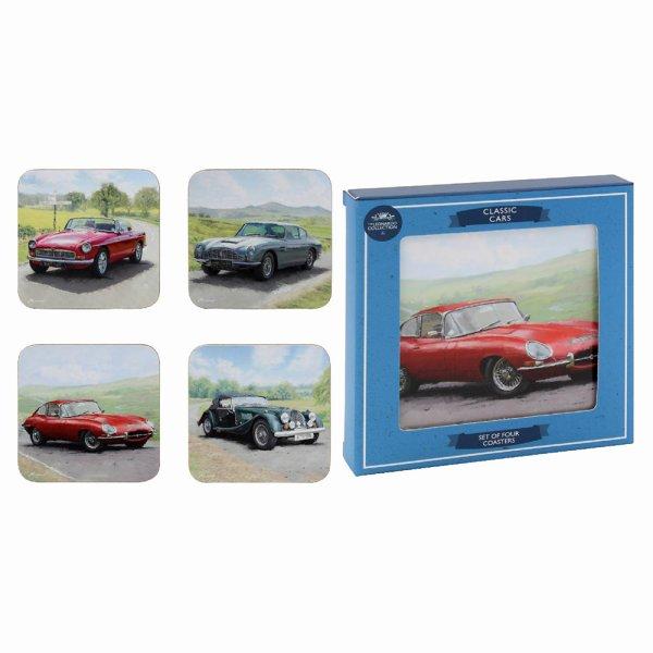 CLASSIC CARS COASTERS SET 4