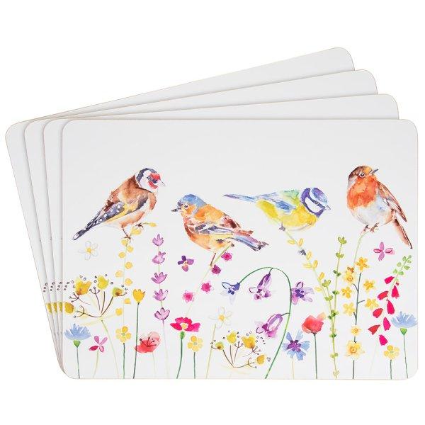 GARDEN BIRDS PLACEMATS S/4