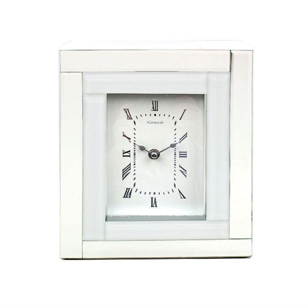 MIRROR WHITE CLOCK 5X7