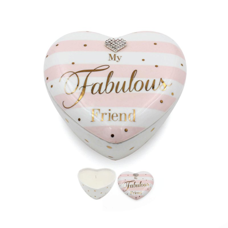MAD DOTS FRIEND HEART CANDLE