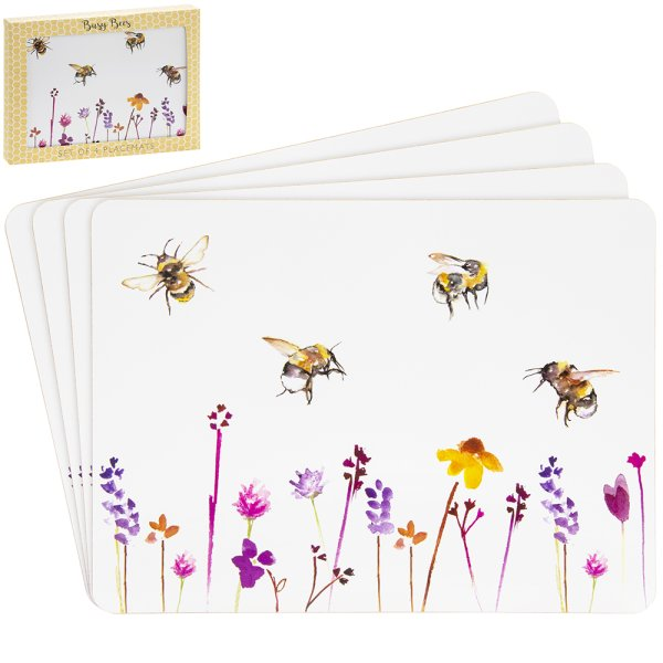 BUSY BEES PLACEMATS S/4