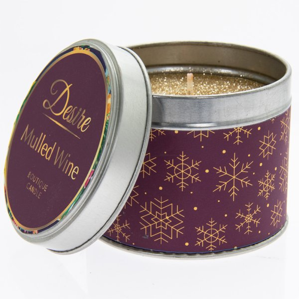 DESIRE MULLED WINE TIN CANDLE