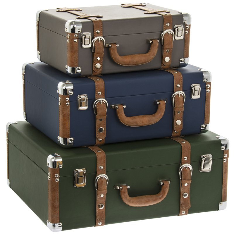 SUITCASES 3 ASST SET OF 3