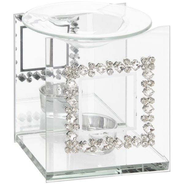 MIRROR DIAMANTE OIL BURNER