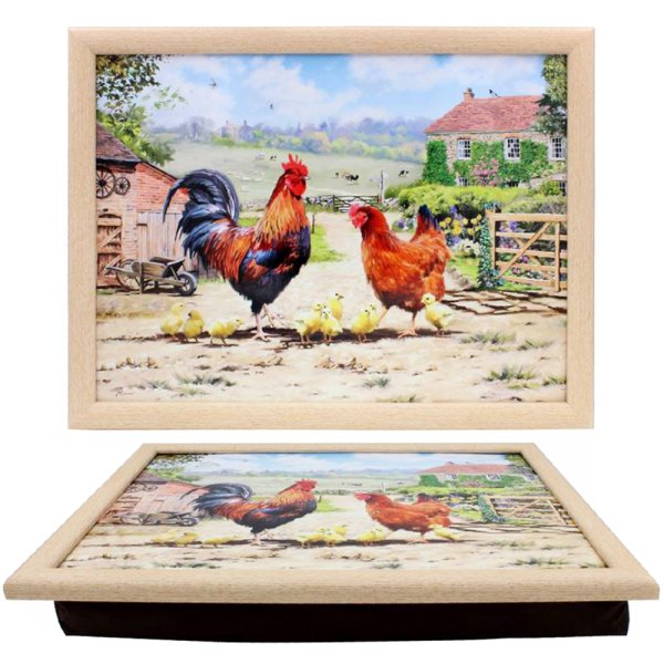 COCKEREL & HEN LAPTRAY