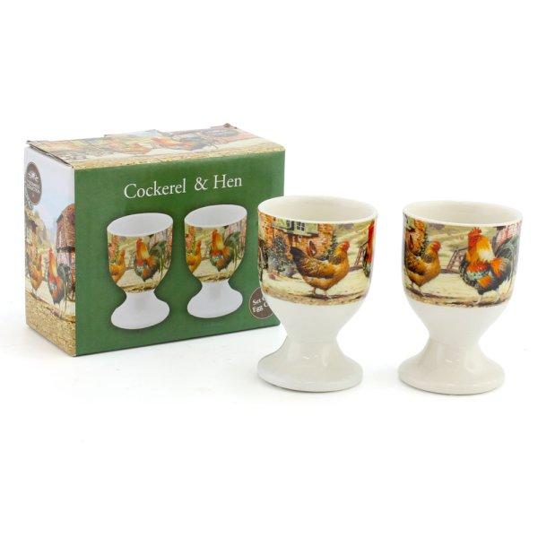 COCKEREL & HEN EGG CUPS