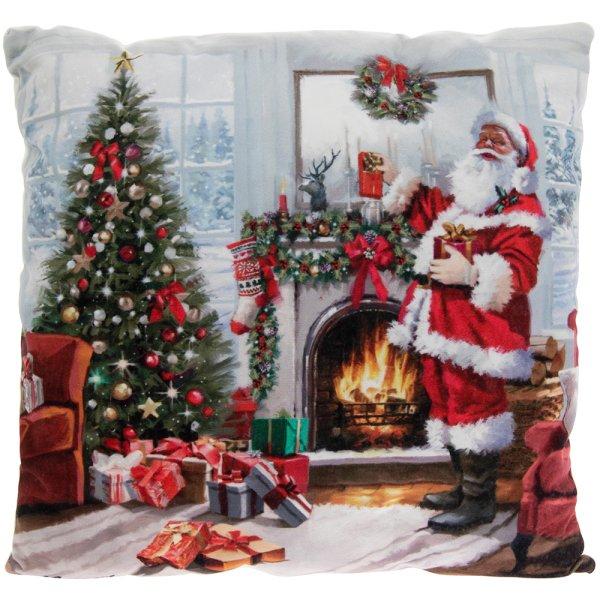 CHRISTMAS SANTA LED CUSHION