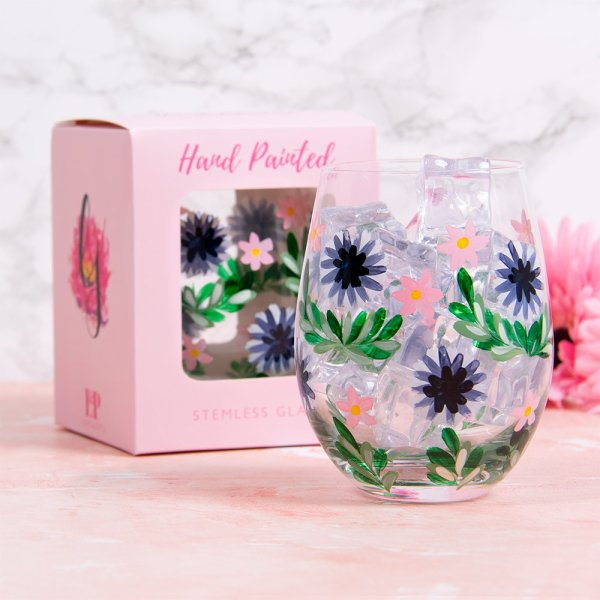 CORNFLOWER STEMLESS GLASS