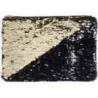 SEQUIN CLUTCH GOLD & BLACK