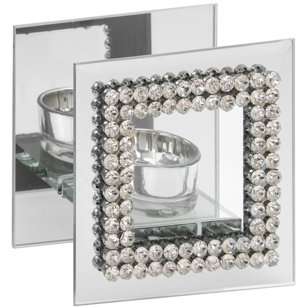 DIAMANTE MIRROR TEALIGHT