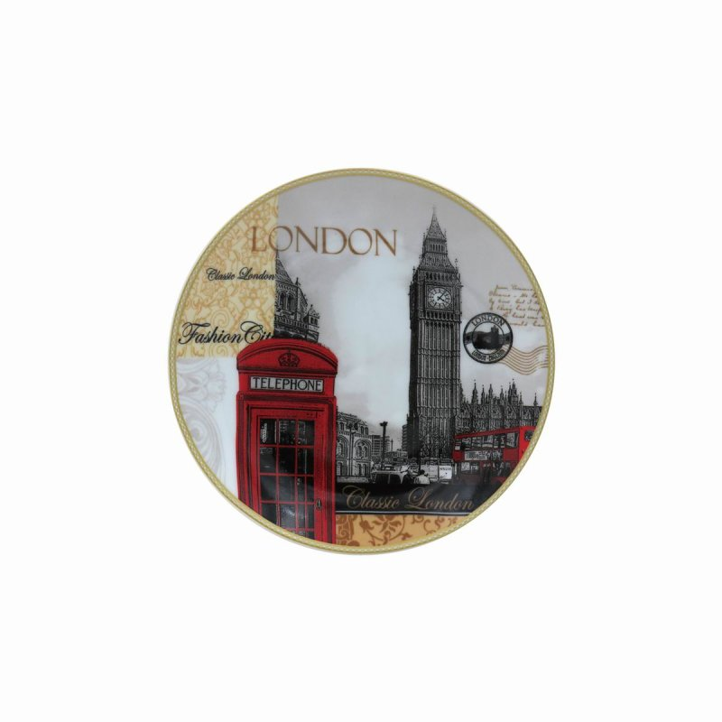 NEW LONDON PLATE W/STAND 6""
