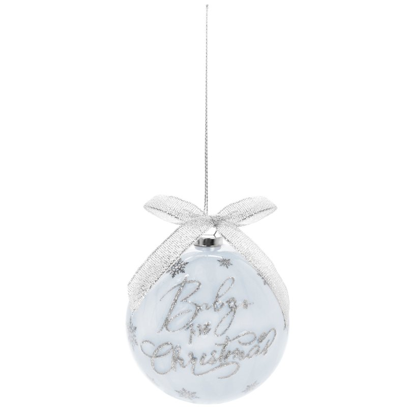 BABY'S 1ST XMAS BAUBLES BLUE