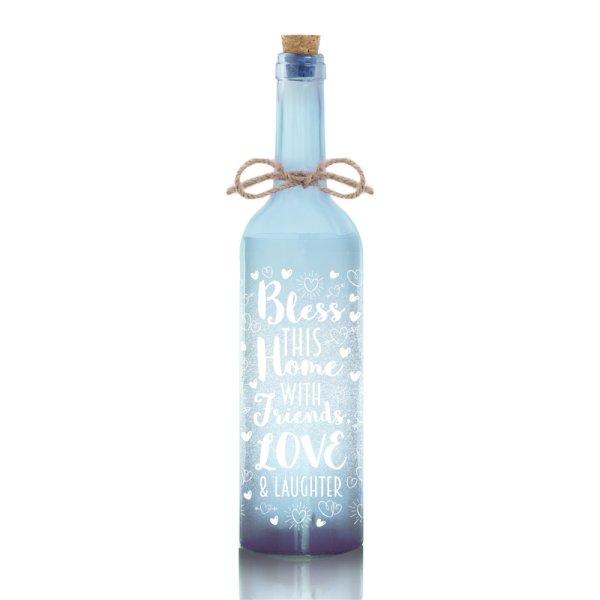 LED BOTTLE BLUE BLESS THIS HSE