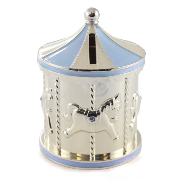 SP CAROUSEL MONEY BOX BLUE