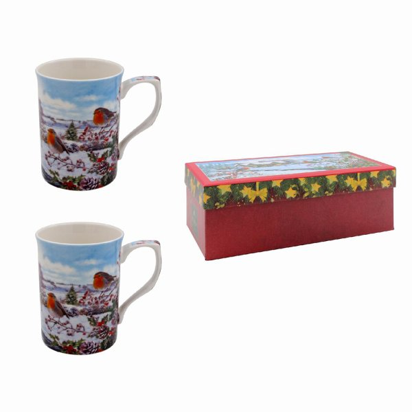 ROBINS MUGS SET OF 2