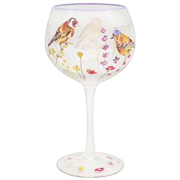 GARDEN BIRDS GIN GLASS