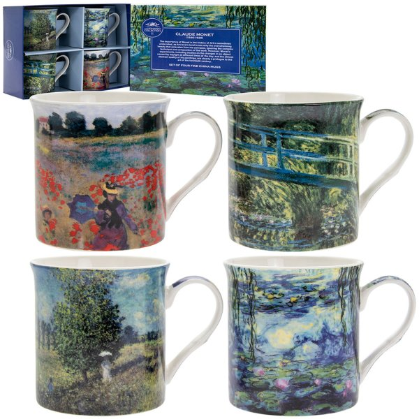 MONET MUGS SET OF 4