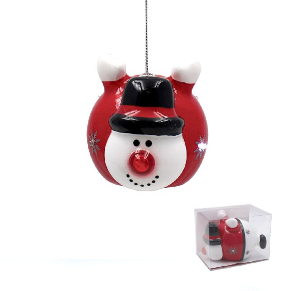 SNOWMAN LED BAUBLE