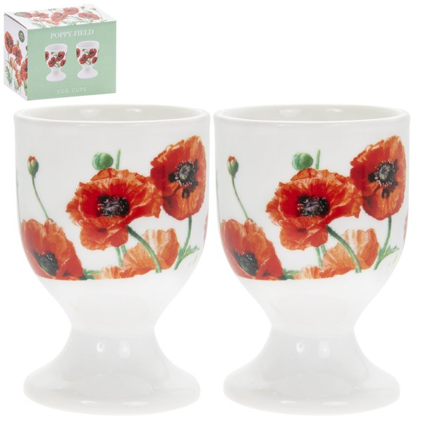 POPPY FIELD EGG CUPS