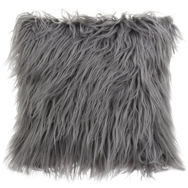 FURRY CUSHION GREY