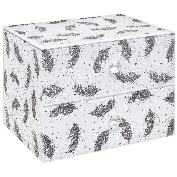GLITTER FEATHER JEWELLERY BOX