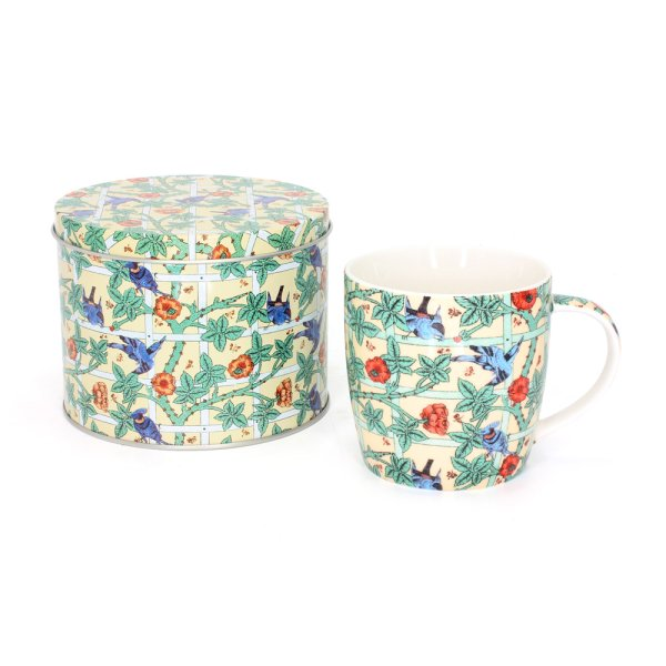 WILLIAM MORRIS BIRDS MUG/TIN