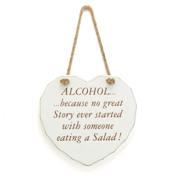 ALCOHOL NO GREAT STORY PLAQUE