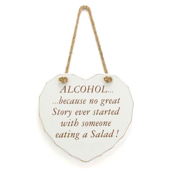 ALCOHOL NO GREAT STORY PLAQUE
