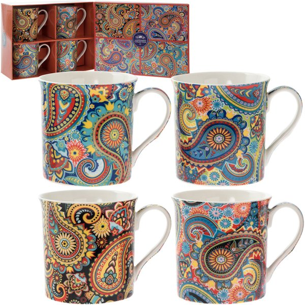 PAISLEY MUG SET OF 4