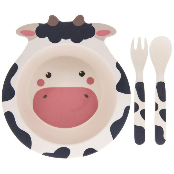 BAMBOO ECO EATING SET COW