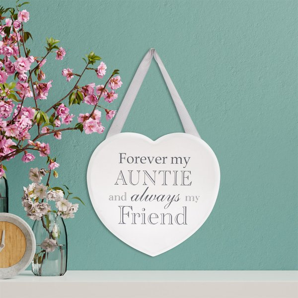HEART PLAQUE AUNTIE