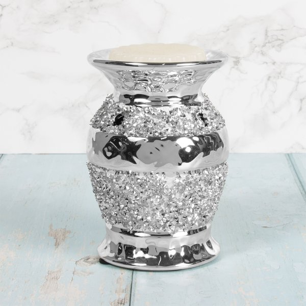 SILVER SPARKLE OIL WARMER