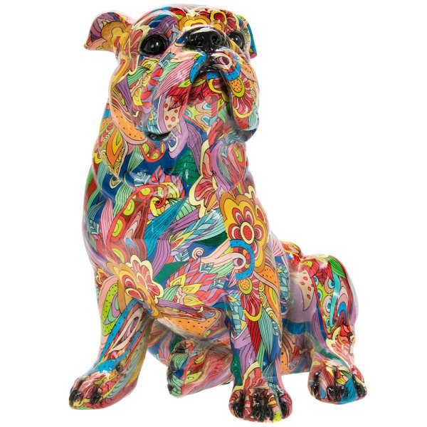 GROOVY ART SITTING BULLDOG