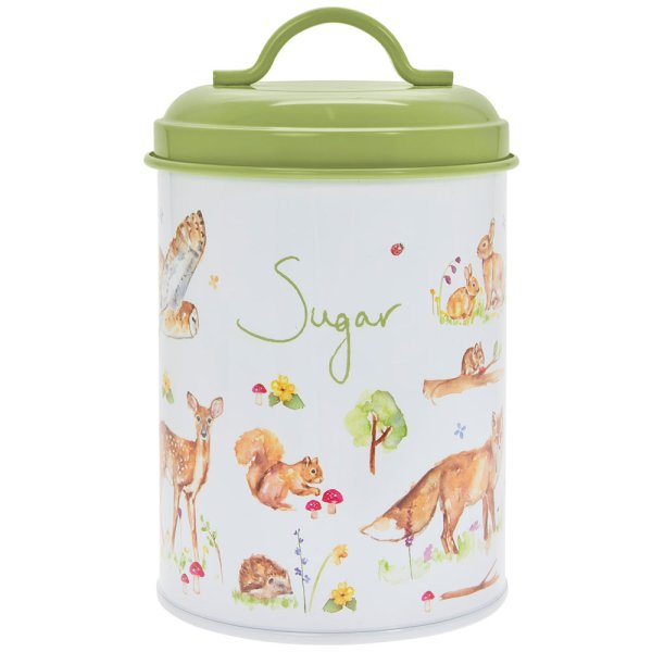 WOODLAND WILDLIFE SUGAR CANIST