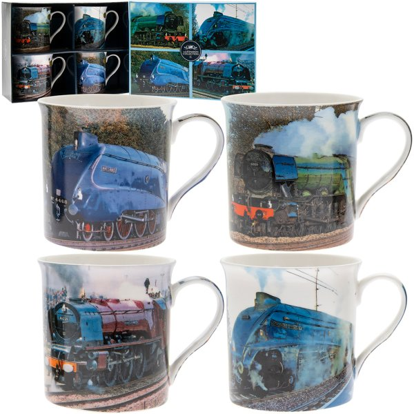 TRAIN MUGS SET OF 4